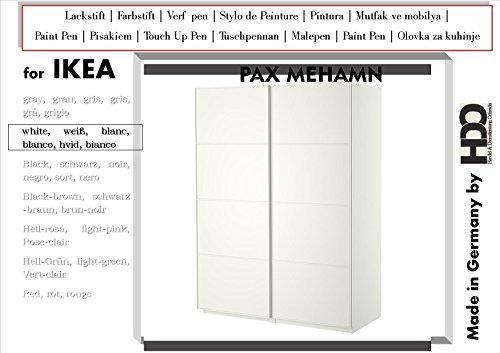 Farbstift Lackstift Touch-Up-Pen for IKEA PAX Mehamn white