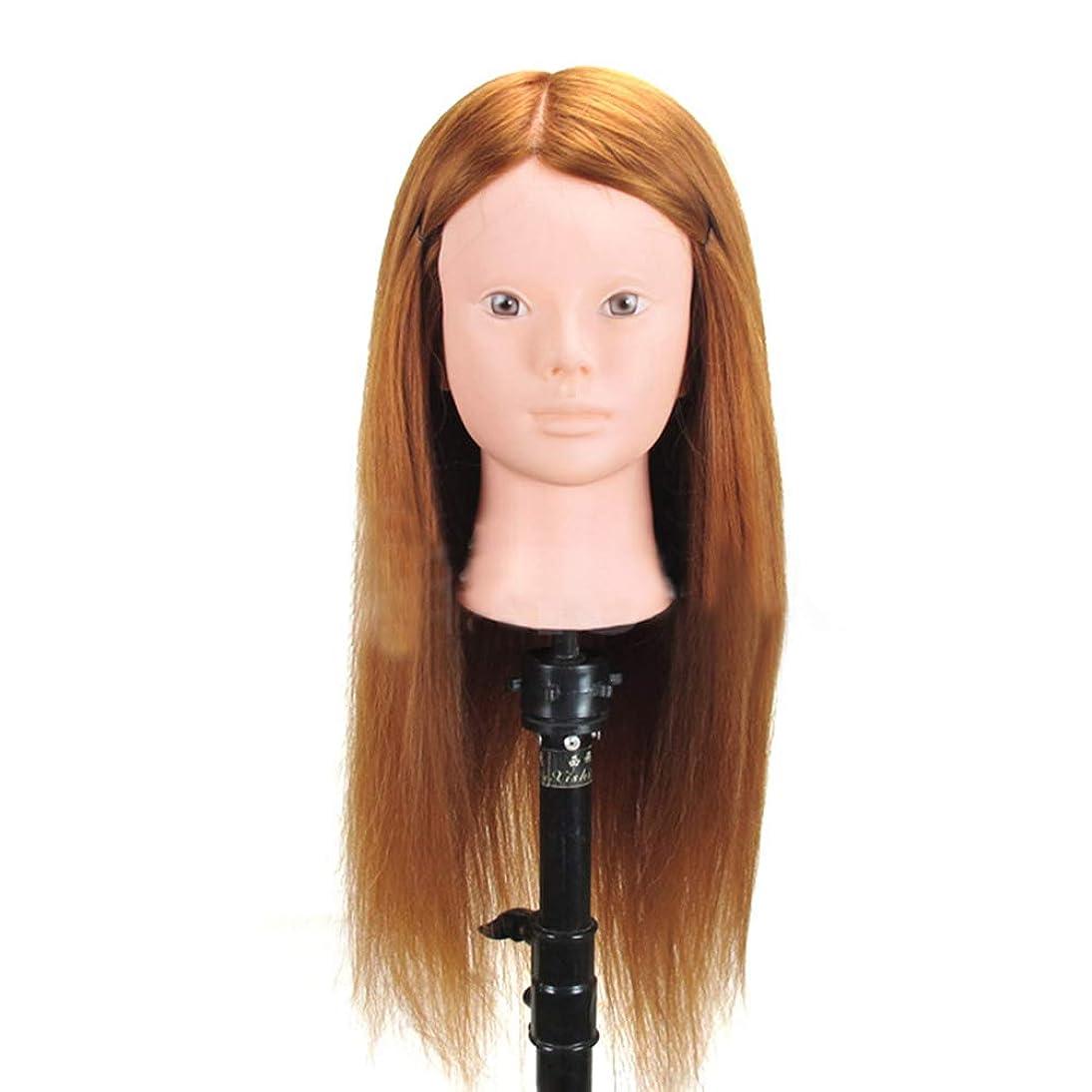一定妖精一族高温シルクヘアマネキンヘッド編組ヘアヘアピンヘッドモデルサロンパーマ髪染め学習ダミーヘッド