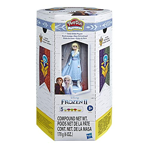 Play-Doh Mysteries Disney Frozen 2 Snow Globe Playset Surprise Toy with 5 Non-Toxic Play-Doh Colors
