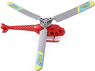 Plastic Hand Line Helicopter, Toy Power Flying Sky Plane Toy Kid Children to Go to The Park, The Suburbs, and The Green Space.