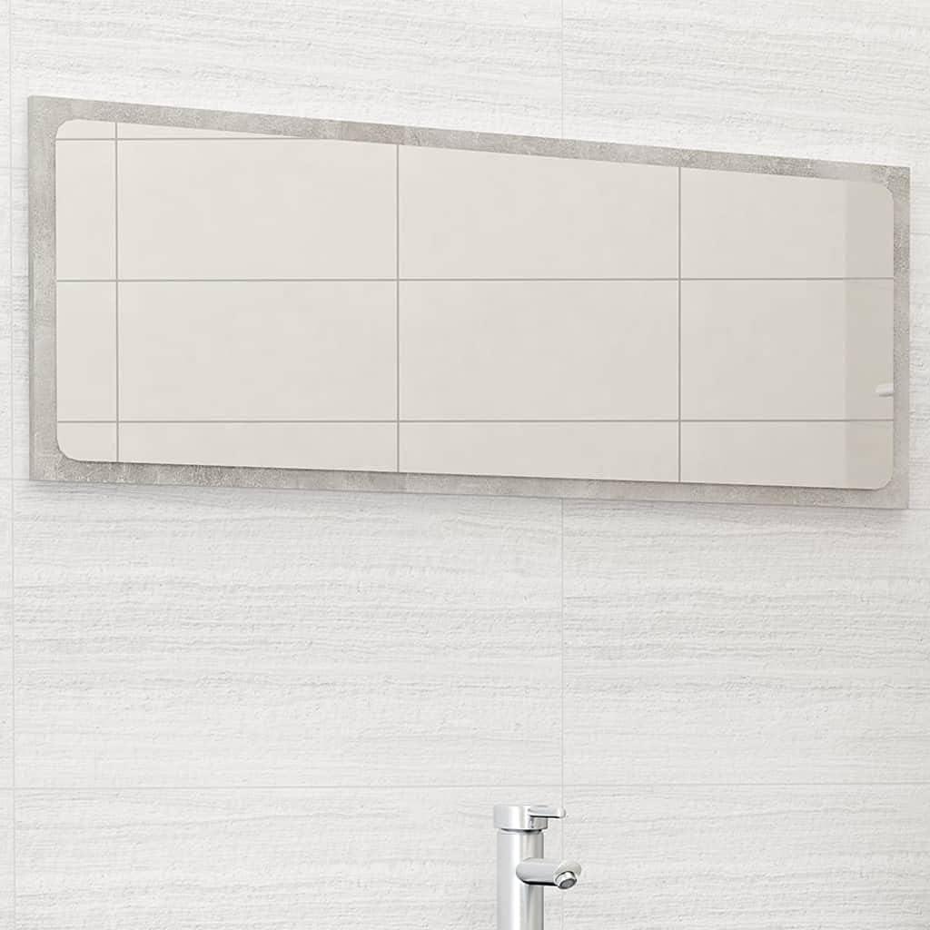 Furniking Bathroom Mirror Concrete Chipboa NEW before Max 62% OFF selling ☆ Gray 39.4