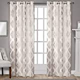 Exclusive Home Curtains Augustus Metallic Grommet Top Panel Pair, 54x96, Off-white, 2 Count