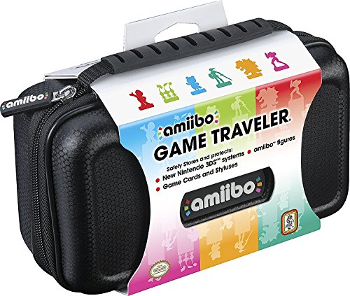 Officially Licensed Nintendo 3DS Amiibo Case – Protective Deluxe Traveler for Storage, Display or Carrying Case/Box – Black