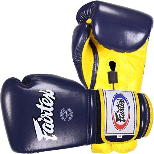 Fairtex BGV9–Guantes de boxeo, Azul-Amarillo