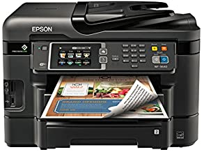 Epson WorkForce WF-3640 Wireless Color All-in-One Inkjet Printer with Scanner and Copier, Amazon Dash Replenishment Ready