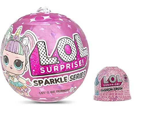 LOL Surprise Glam Glitter Rosa unicornSparkless series Assortito unbox me 7 sorprese palla pallina bambolina collezione + Fashion Crush Serie 4 + omaggio penna glitterata