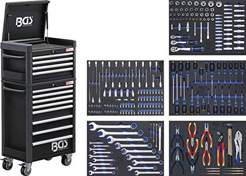 BGS 4088 | Werkstattwagen Profi Standard Maxi | 12 Schubladen | mit 263 Werkzeugen
