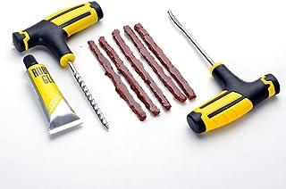 MINGWEN Universal Kit de Reparación de Neumáticos para Arreglar Pinchazos y Plug Flats Value Pack para Autos, Camiones, Motocicletas Herramienta de Enchufe del Neumático