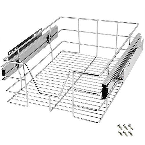 Deuba Cajón telescópico bandeja de metal extraíble 40cm organizador interior almacenaje cocina baño