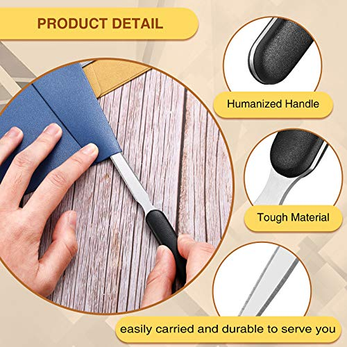 3 Pieces Office Letter Opener Stainless Steel Hand Envelope Slitter Lightweight Open Letter Knife Humanized Grip Handle Staple Removal Tool Mail Opener for School Office Home Photo #6
