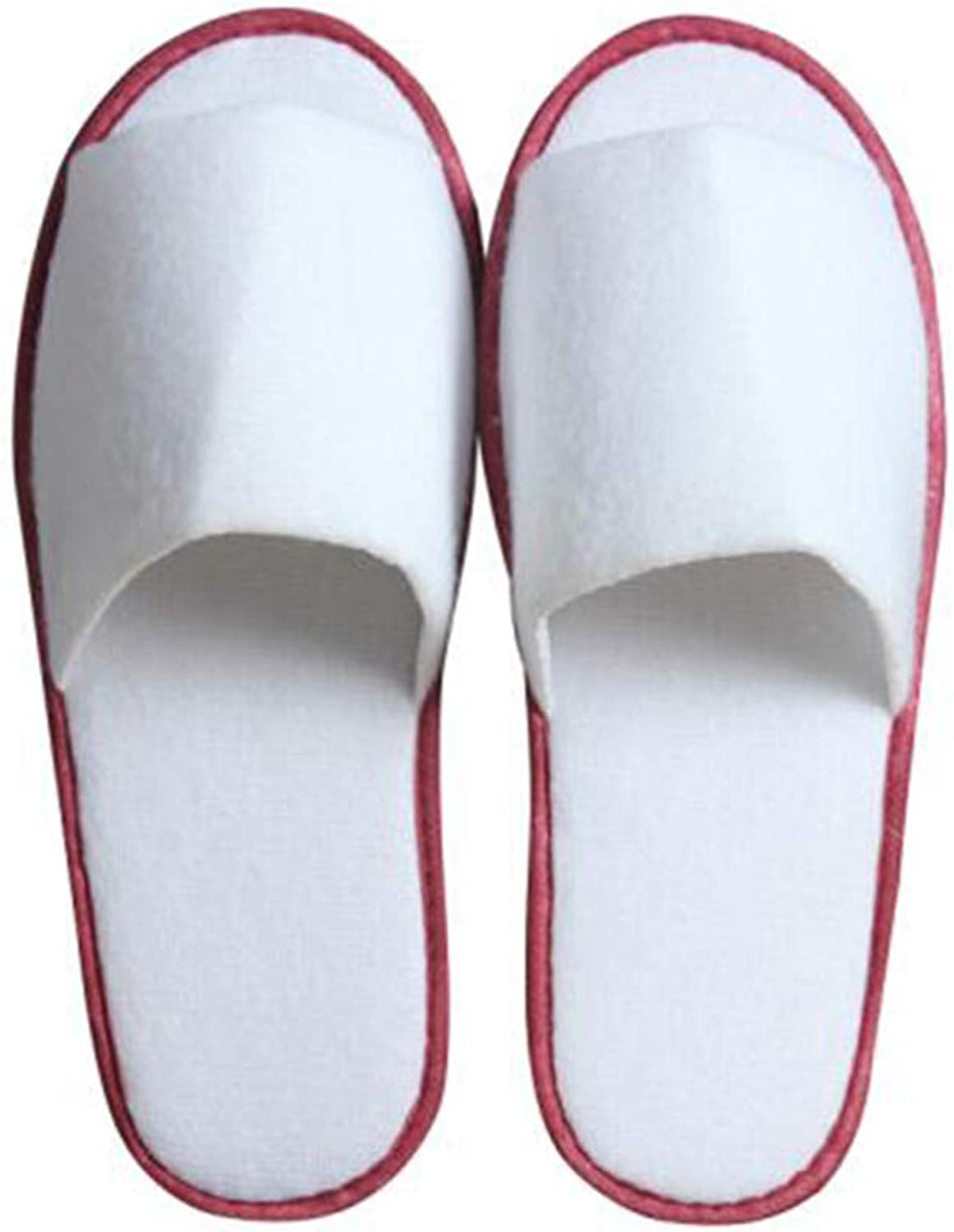 Disposable Slippers Men's Slippers Women's Household Slippers Five-star Hotel Hotel Sauna Room Club Beauty Unisex Slippers 28.5  10.6cm (color   Red side 20 pairs, Size   285  106  5mm)