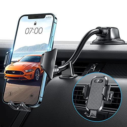 VANMASS Kfz Handyhalterung Auto Saugnapf mit Schwanenhals 3 in 1 Armaturenbrett Frontscheibe Lüftung Handyhalter Universal Langer Arm Autohalterung für Autos PKW LKW iPhone Samsung Huawei LG usw
