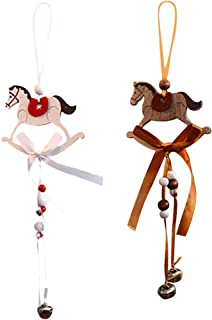 Aimik Xmas Ornaments, Christmas Deer/Angel/Tree Wooden Pendant Ornaments DIY Craft Christmas Decorations Xmas Tree Ornaments Hanging Gifts for Party New Year (H)