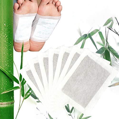 ZITFRI 100pcs Cerotti Detox Piedi Detox Foot Patch Cerotto Disintossicante per i Piedi Cerotti Bambu Elimina Tossine Detox Foot Pads Dimagranti
