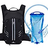 SUNJOYCO Breathable Hydration Backpack with 2L Bladder Bag, Water Rucksack Hydration Pack Lightweight Pouch for Men Women Kids Running Hiking Climbing Biking Cycling Skiing