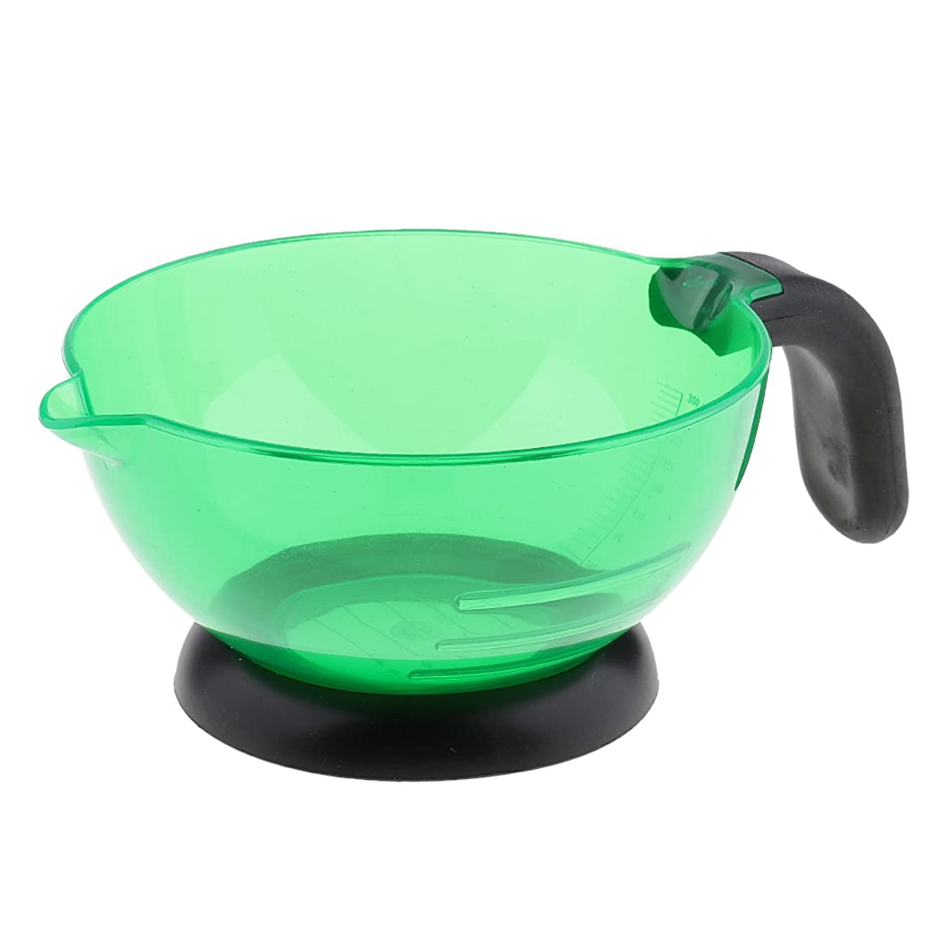 怪物押し下げる豊富にBaosity 全3色選べ 高品質 シリコン 多機能 美容室/サロン 染剤ボウル ヘアカラー 染め用具  - 緑