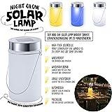 LED Solarlampe – Die Sonnen-Lampe Deko Sun Jar Solar-Laterne im Einmachglas mit Bügel; Warm-Weißes Licht - 4