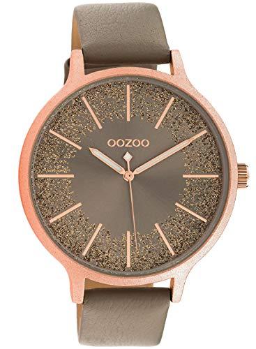 Oozoo Damenuhr Lederband Ø 45 mm Taupe/roségold C10567