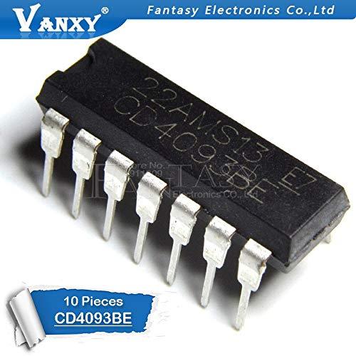 10PCS CD4093BE DIP14 CD4093 DIP 4093 DIP-14 IC nuevo y original