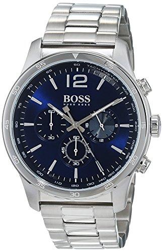 Hugo Boss Herren Chronograph Quarz Armbanduhr mit Edelstahlarmband 1513527