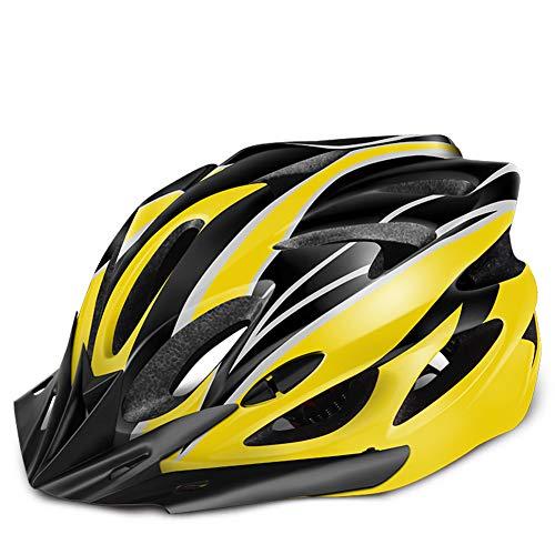 Fietshelm met verstelbaar formaat voor volwassenen, CPSC-gecertificeerde fietshelm met 18 ventilatieopeningen en verwijderbare zonnevizier, fietshelm voor Urban Casual Commuter fietsen, 21-24.4 inch