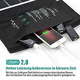 RAVPower 24W Solarladegerät mit 3 USB - 8