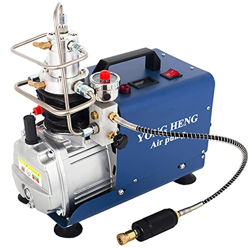 Holymus Yong Heng 4500 PSI Compressor, 30MPa High Pressure Air Compressor 4500 PSI for Air Rifle PCP Air-Gun Paintball Scuba Fill Station for Fire Fighting and Diving