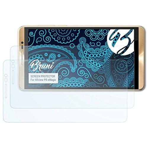 Bruni Schutzfolie kompatibel mit Allview P8 eMagic Folie, glasklare Bildschirmschutzfolie (2X)