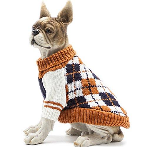 HAPEE Hundepullover mit Rautenmuster für Katzen und Hunde, Hundezubehör, Hundebekleidung, Haustier-Sweatshirt