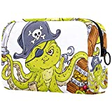 FURINKAZAN Octopus - Bolsa de viaje para maquillaje de pirat