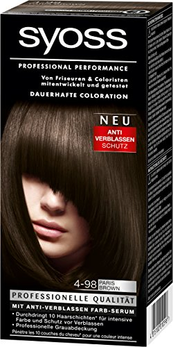 Syoss Coloration 4-98 Paris Brown, 3er Pack (3 x 115 ml)