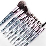 YZZ Conjunto de Pinceles de Maquillaje, 10pcs Soft SynTheth Hair Papel de Maquillaje Pincel de Maquillaje Pinceles Sombra de Ojos Blusher Powder Blending Kit