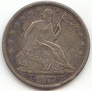 1877 S Seated Liberty Half Dollar Extra Fine