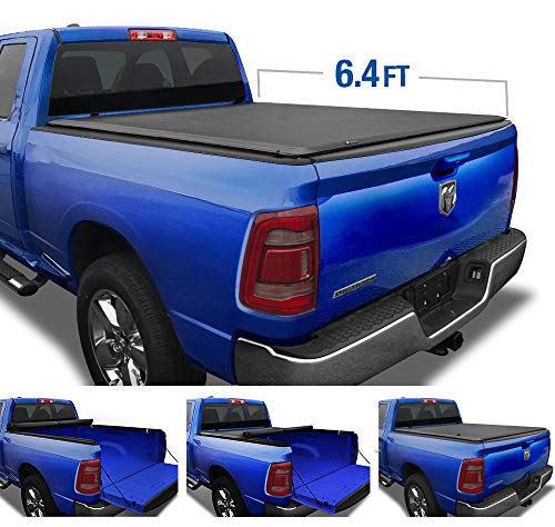 Tyger Auto T1 Soft Roll Up Truck Bed Tonneau Cover for 2019-2020 Dodge Ram 1500 New Body Style; Fleetside 6.4' Bed Without RamBox; NOT for Classic; TG-BC1D9047