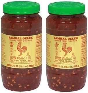 Huy Fong Sambal Oelek Ground Fresh Chili Paste (Large 18 oz Jars) 2 Pack, Set of 2