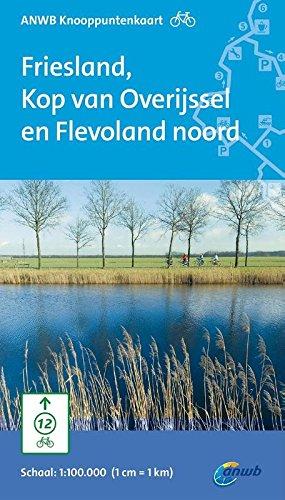 ANWB knooppuntenkaart fiets Friesland, Kop van Overijssel en Flevoland noord