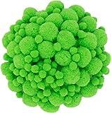 i-mondi® 250 pompons zum basteln hellgrün in 10mm & 20mm klein bastel zubehör pom pom bunt kugeln ponpons deko pompom plüsch