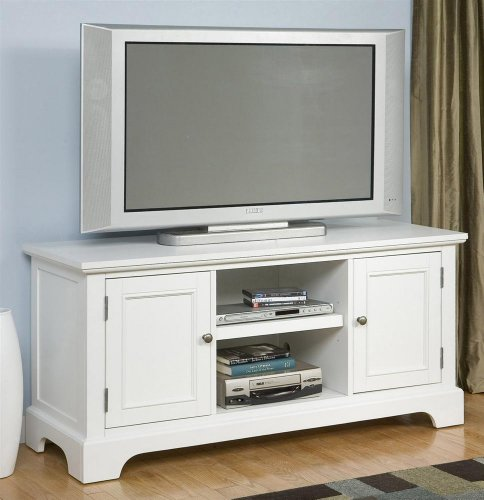 Big Sale Best Cheap Deals Home Styles 5530-12 Naples Entertainment Stand, White Finish