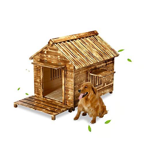 Pet House, Maison de Chien en Bois imperméable à l'eau en Plein air intérieur Petit Petit chenil chenil en Bois chenil