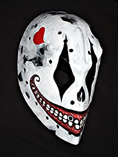 1:1 Custom Paint Fiberglass Roller NHL Ice Hockey Goalie Mask Helmet The Joker HO53 am