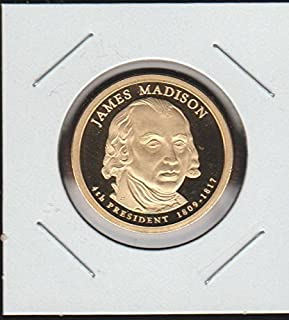 james madison 1 dollar gold coin