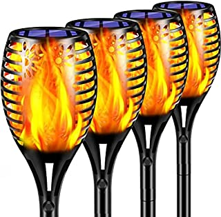 TomCare Solar Lights Upgraded, Waterproof Flickering Flames Torches Lights Outdoor Solar Spotlights Landscape Decoration L...