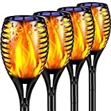 TomCare Solar Lights Outdoor 43' Flickering Flame Solar Torch Lights Outdoor Lighting Waterproof Solar Powered Garden Lights Landscape Decorative Lighting Auto On/Off for Pathway Patio Yard, 4 Pack