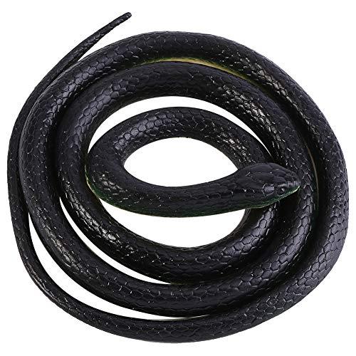 Giocattolo Serpente Lungo 130 cm, Simulazione Modello Realistico del Serpente Giocattoli Animali in Gomma Morbida Divertenti Scherzi Scherzo Regalo per Bambini Adulto
