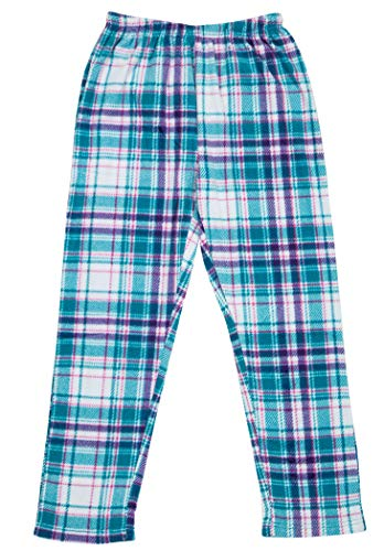 North 15 Girls Super Cozy Mink Fleece Plaid Pajama Bottom 7-14