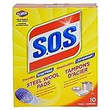 S.O.S Seifenpads, Stahlwolle, 10 Stück pro Box (6 Boxen insgesamt)
