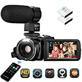 Video Camera Camcorder , Aitechny Vlogging Camera FHD 1080P 30FPS Camera 24MP 3.0 Inch LCD Touch...