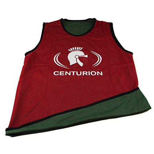 Centurion - Pettorina double-face da allenamento, in tessuto traforato, Multicolore (Red/Green), XL