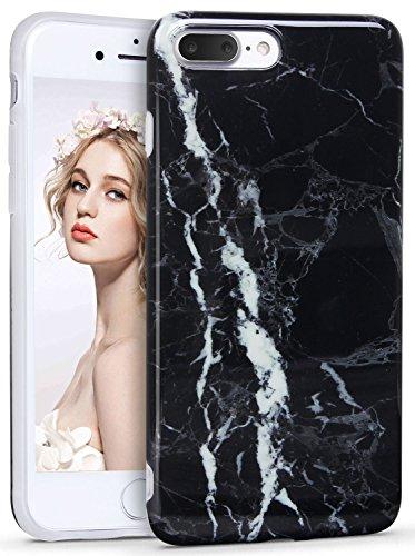 "Imikoko® Hülle für iPhone 8 Plus/iPhone 7 Plus Marmor Hülle Matt Soft Silicone Slim TPU Handytasche Flexible Schutzhülle Soft Back Cover Gummi Dünn(5.5\"")"