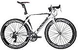 Eurobike XC7000 14 Speed Road Bike 54 cm Light Aluminum Frame 700C Road Bicycle White